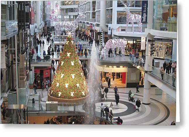 Life At The Mall Greeting Card by Alfred Ng
