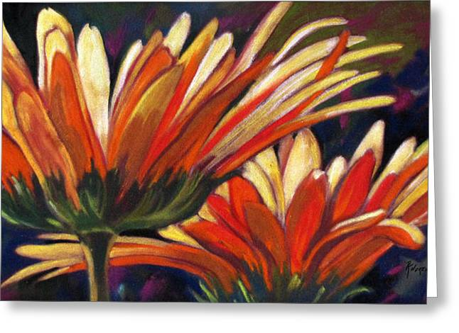 Greeting Card featuring the painting Life Is A Parade by Rae Andrews