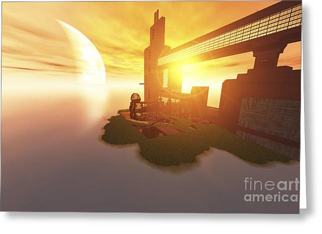 Life On Another World Greeting Card by Corey Ford