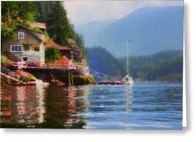 Life On Indian Arm Greeting Card