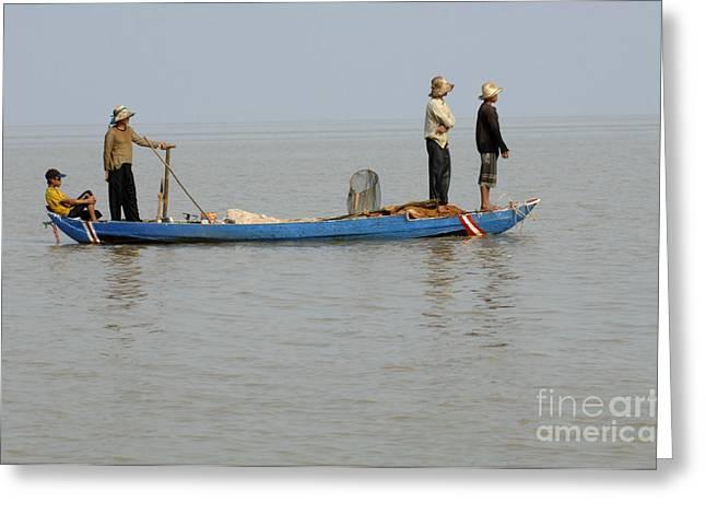 Life On Lake Tonle Sap 5 Greeting Card