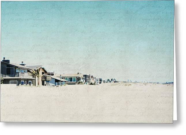 Greeting Card featuring the photograph Letters From The Beach House - Square by Lisa Parrish