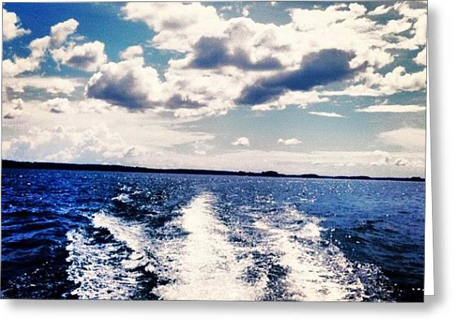 Life On The Lake. Greeting Card