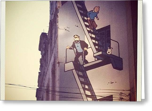 Life Size Tintin Cartoon Strip On The Greeting Card