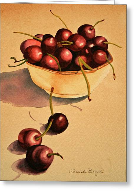 Greeting Card featuring the painting Life by Teresa Beyer