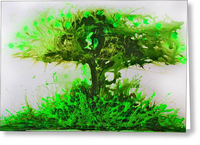 Greeting Card featuring the painting Life Tree by Lolita Bronzini