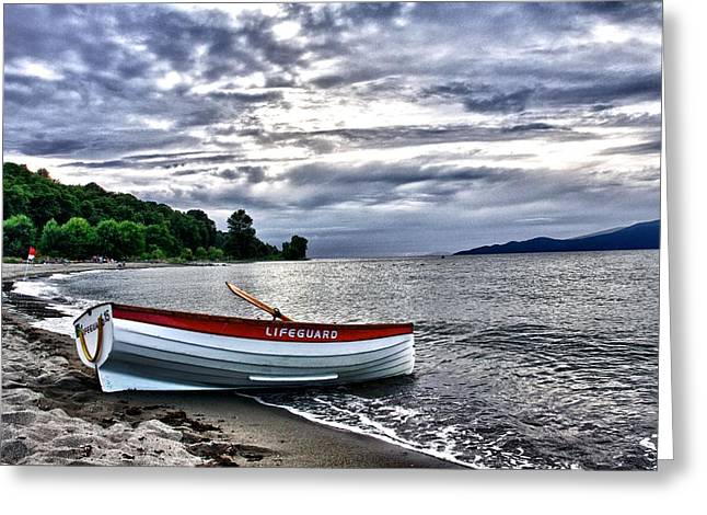 Greeting Card featuring the photograph Lifeboat by Scott Holmes