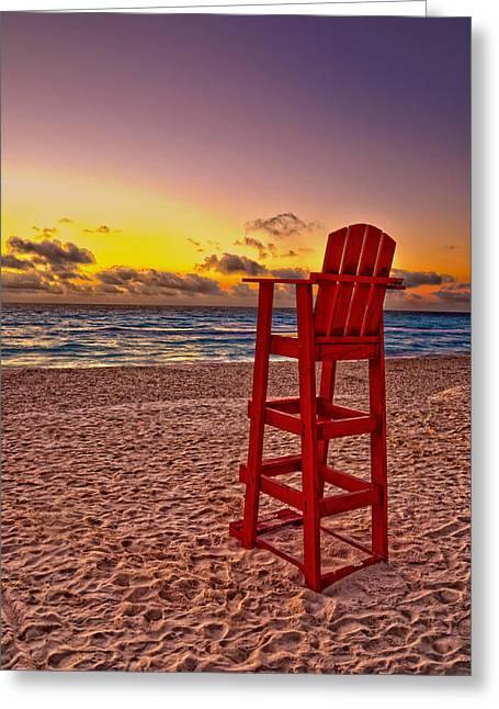 Lifeguard Chair Greeting Card by Brian Mollenkopf