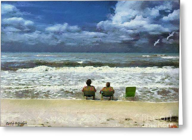 Greeting Card featuring the digital art Life's A Beach by Rhonda Strickland