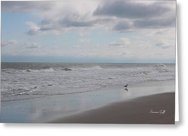 Lifes A Beach Greeting Card by Suzanne Gaff