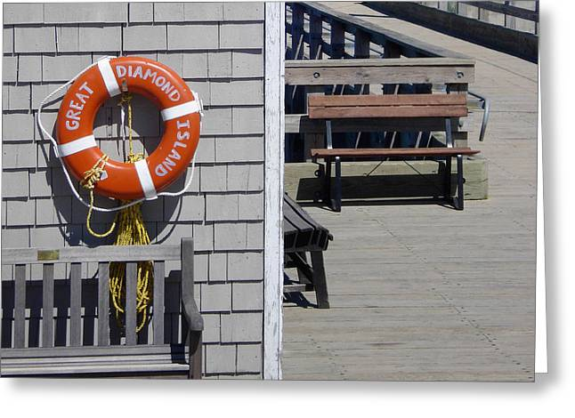 Lifesaver Greeting Card by Al Griffin