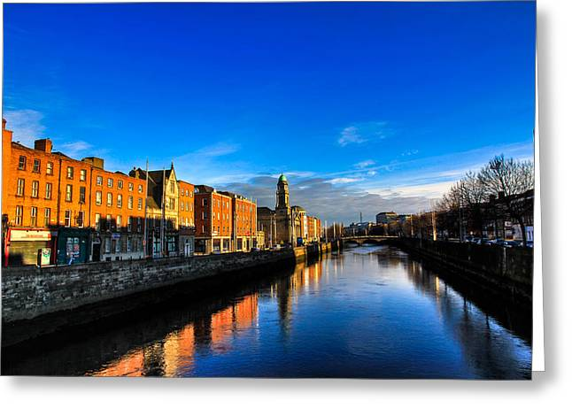 Liffey River Greeting Card by Justin Albrecht