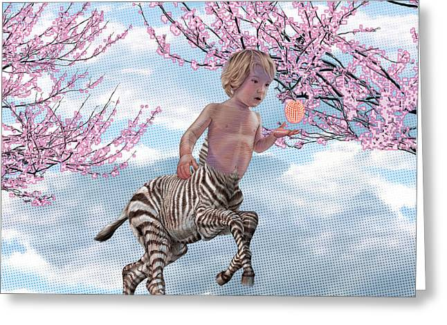 Liger  Pluck Greeting Card by David Starr