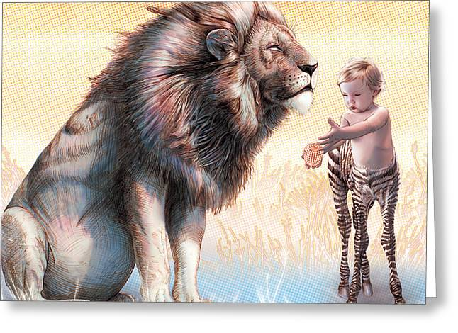 Liger  The Gift Greeting Card by David Starr