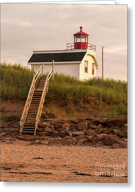 Lighhouse Cousins Shore Pei Greeting Card by Edward Fielding