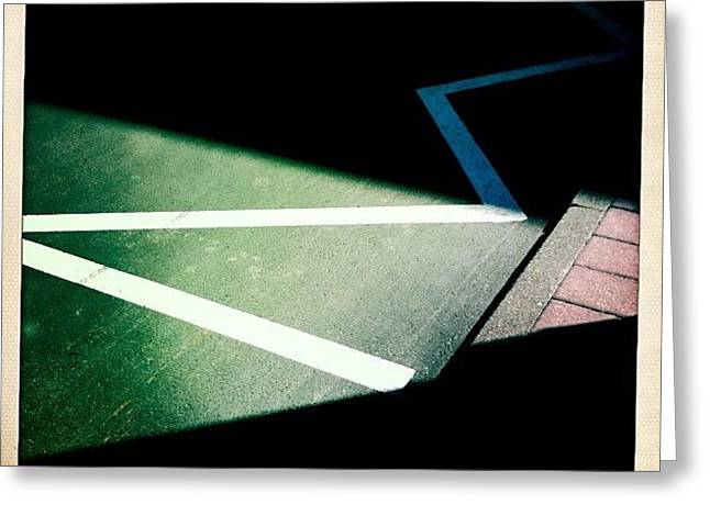 Light And Shadow Triangles Greeting Card