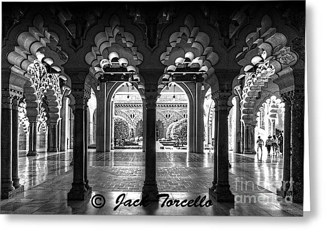 Greeting Card featuring the photograph Light And Symmetry by Jack Torcello