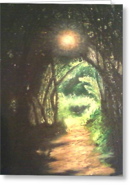Light At The End Of The Trail Greeting Card by Samuel McMullen