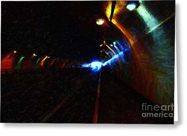 Light At The End Of The Tunnel Greeting Card