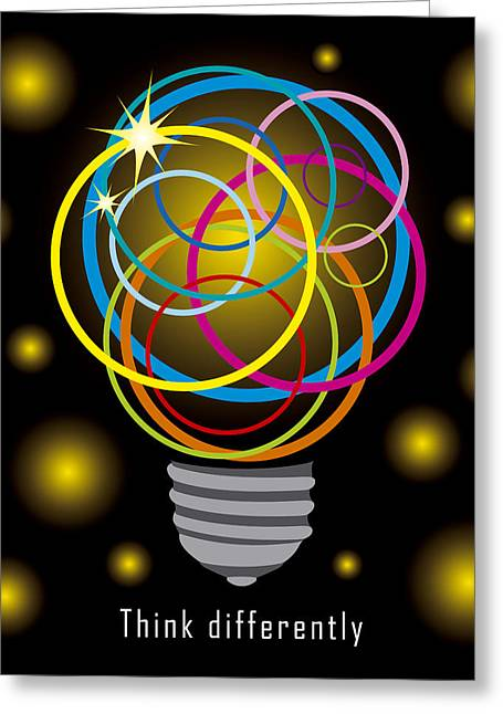 Light Bulb  Greeting Card by Natee Srisuk