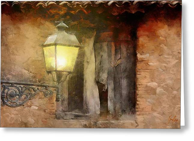 Light By The Window  Greeting Card