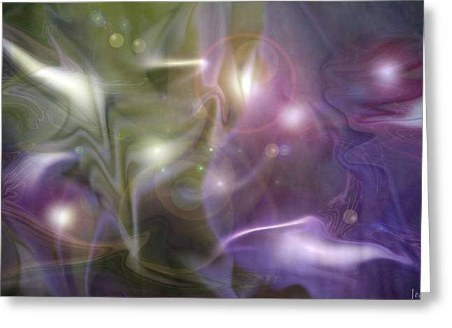 Light Dance Greeting Card by Jeanean Gendron