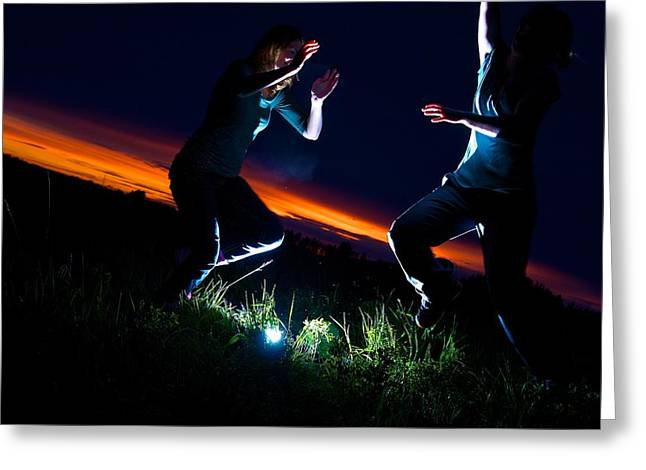 Light Dancers 1 Greeting Card by JM Photography