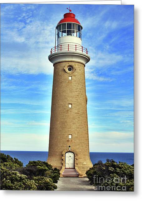 Light House At Cape Du Couedic Greeting Card by Stephen Mitchell