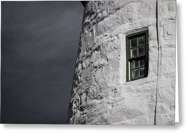 Light House Window Greeting Card by Vintage Pix