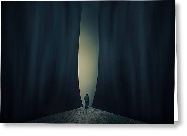 Light Greeting Card by Ian Barber
