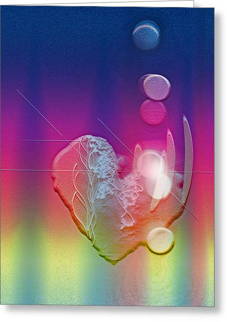 Light In Your Heart Greeting Card by Linda Sannuti