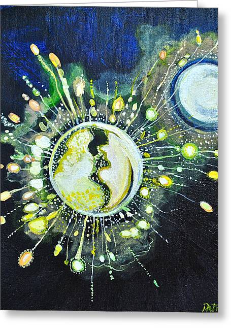 Light Music Greeting Card by Patricia Arroyo