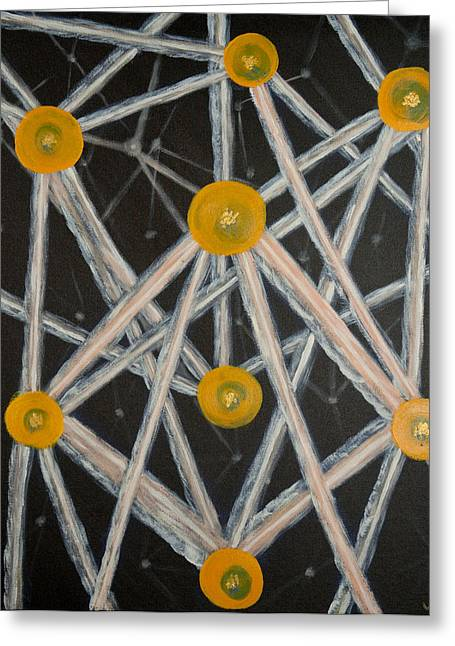 Light Networkers Greeting Card by Wilhelmina McKittrick