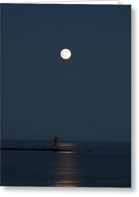 Light Of The Moon Greeting Card by Sara Hudock