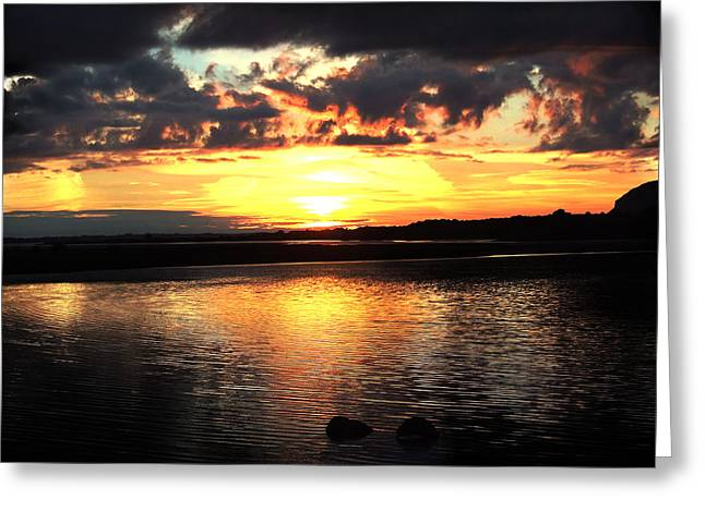 Light On The Water Greeting Card by Eddie Armstrong