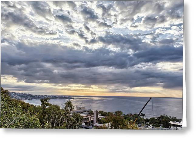 Light Over La Jolla Greeting Card