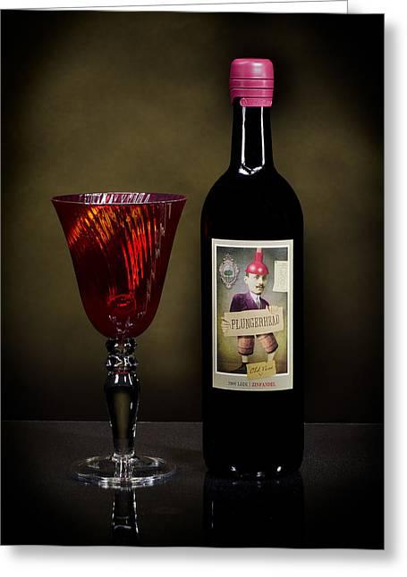 Light Paint Red Wine Greeting Card by Noah Katz