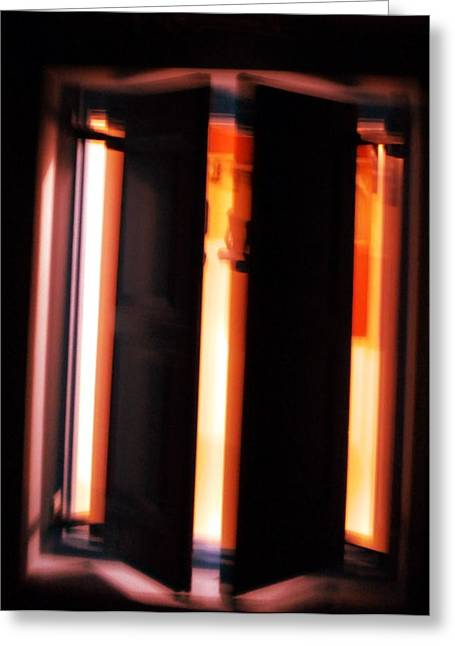 Greeting Card featuring the photograph Light Reflections by Colette V Hera  Guggenheim