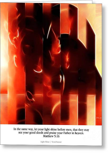Light Shine. Christian Art Poster Greeting Card by Mark Lawrence