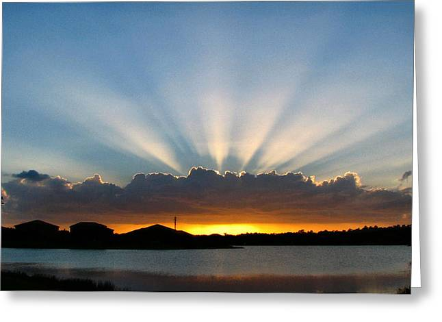Greeting Card featuring the photograph Light Streams by Bill Lucas