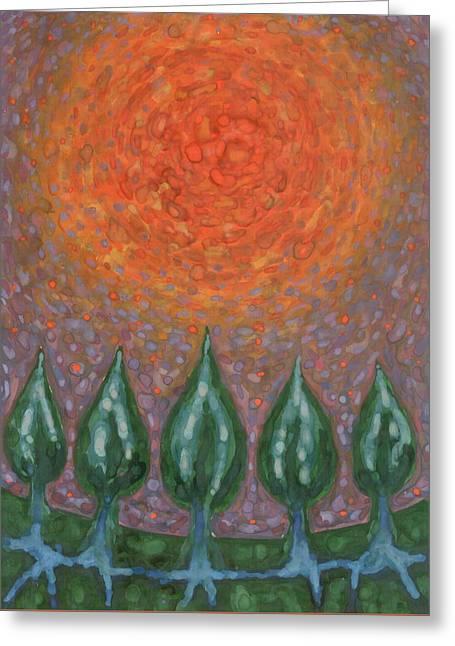 Light The Night Greeting Card by Wojtek Kowalski