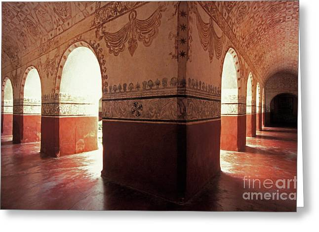 Greeting Card featuring the photograph Light Under The Arches Tepoztlan Mexico by John  Mitchell