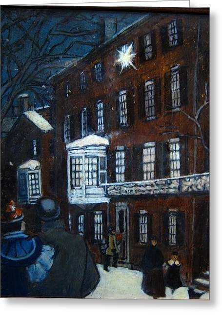 Lighted Candles Greeting Card by Rick Hildebrandt