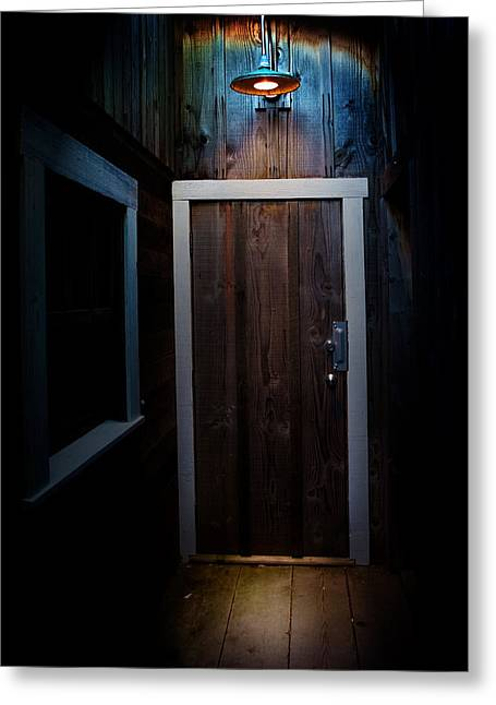 Lighted Doorway Greeting Card by Raymond Potts