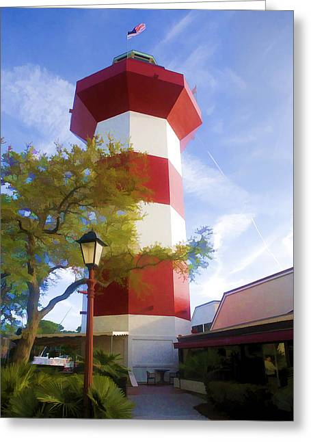 Lighthouse At Hilton Head Greeting Card