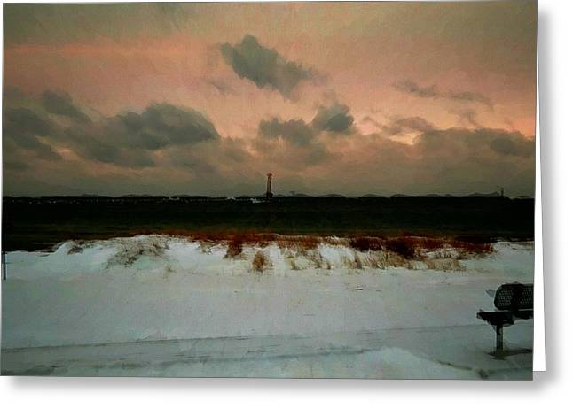 Lighthouse Beach  Greeting Card by Ritter Photography And Fine Art Images