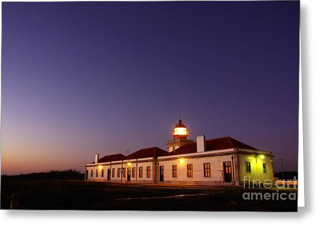 Lighthouse Greeting Card by Carlos Caetano