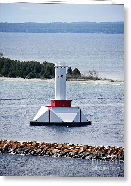 Lighthouse Greeting Card by Emily Kelley