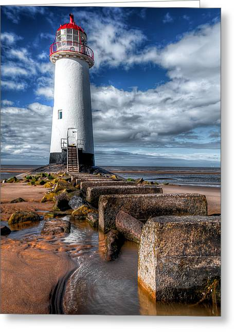 Lighthouse Entrance Greeting Card by Adrian Evans