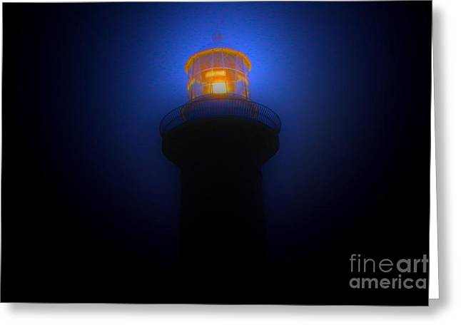Lighthouse Glow Greeting Card by Joanne Kocwin